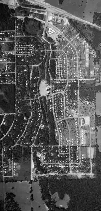 aerial image of IHA in 1957